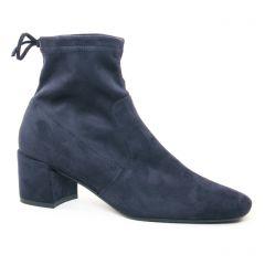 boots-talon bleu marine: même style de chaussures en ligne pour femmes que les Scarlatine
