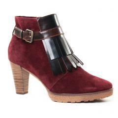 bottines-a-lacets bordeaux: même style de chaussures en ligne pour femmes que les Impact