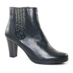 boots-talon noir argent: même style de chaussures en ligne pour femmes que les Scarlatine
