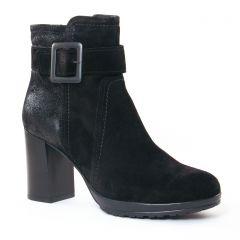 boots-talon noir argent: même style de chaussures en ligne pour femmes que les Impact