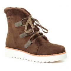 bottines-a-lacets marron vert: même style de chaussures en ligne pour femmes que les Dorking