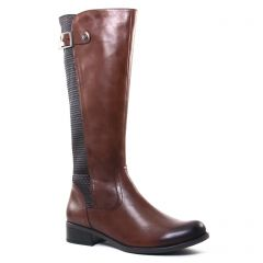 bottes marron: même style de chaussures en ligne pour femmes que les Scarlatine