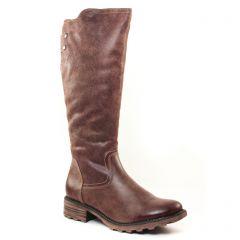 Chaussures femme hiver 2017 - bottes cavalières tamaris marron