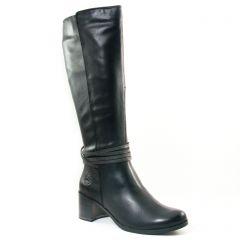 bottes noir gris: même style de chaussures en ligne pour femmes que les Tamaris