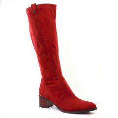 bottes-stretch bordeaux: même style de chaussures en ligne pour femmes que les Tamaris