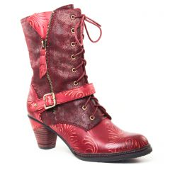 Chaussures femme hiver 2017 - bottines à lacets Laura Vita bordeaux