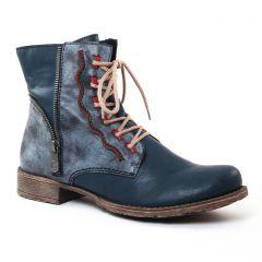 Chaussures femme hiver 2017 - bottines à lacets rieker bleu gris
