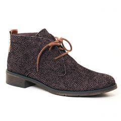 Chaussures femme hiver 2017 - bottines à lacets marco tozzi gris noir