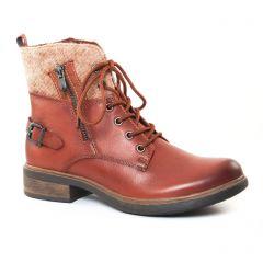 bottines-a-lacets marron beige: même style de chaussures en ligne pour femmes que les Dorking