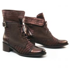 Chaussures femme hiver 2017 - bottines à lacets PintoDiBlu by CostaCosta marron bronze