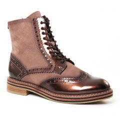Chaussures femme hiver 2017 - bottines à lacets marco tozzi marron