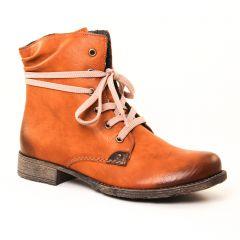 Chaussures femme hiver 2017 - bottines à lacets rieker marron