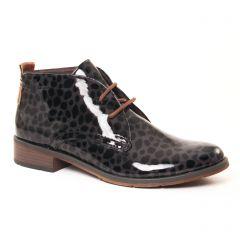 Chaussures femme hiver 2017 - bottines à lacets marco tozzi noir gris