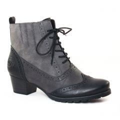 bottines-a-lacets noir gris: même style de chaussures en ligne pour femmes que les Rieker