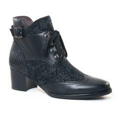 Chaussures femme hiver 2017 - bottines à lacets Mamzelle noir