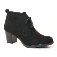 Chaussures femme hiver 2017 - bottines à lacets marco tozzi noir