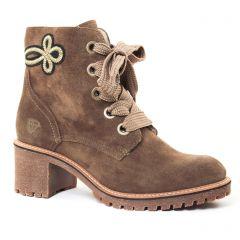 bottines-a-lacets vert kaki: même style de chaussures en ligne pour femmes que les Scarlatine