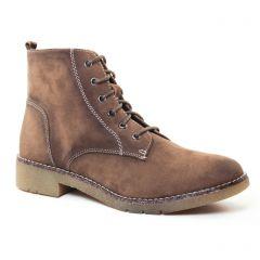 bottines-a-lacets marron kaki: même style de chaussures en ligne pour femmes que les Marco Tozzi