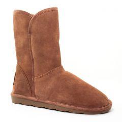 Chaussures femme hiver 2017 - bottines fourrées les tropéziennes beige