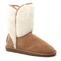 bottines-fourrees beige: même style de chaussures en ligne pour femmes que les Les Tropéziennes