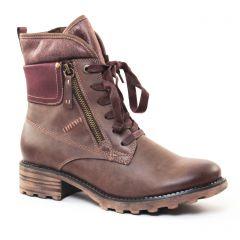 bottines-a-lacets marron prune: même style de chaussures en ligne pour femmes que les Marco Tozzi