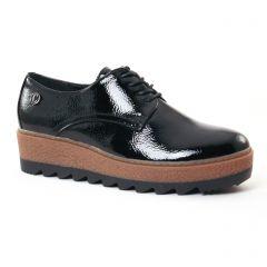 derbys-talons-compenses noir: même style de chaussures en ligne pour femmes que les Scarlatine