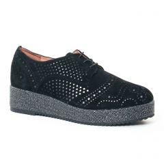 derbys-talons-compenses noir gris: même style de chaussures en ligne pour femmes que les Mamzelle