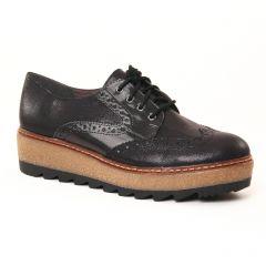 Chaussures femme hiver 2017 - derbys compensées tamaris noir