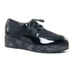 derbys-talons-compenses vernis noir: même style de chaussures en ligne pour femmes que les Mamzelle