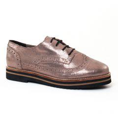 derbys marron doré: même style de chaussures en ligne pour femmes que les Scarlatine