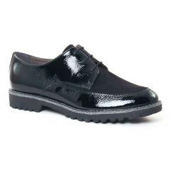 Chaussures femme hiver 2017 - derbys tamaris noir argent