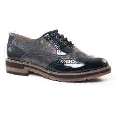 richelieus noir argent: même style de chaussures en ligne pour femmes que les Tamaris