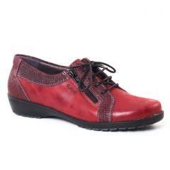 Chaussures femme hiver 2017 - derbys Suave rouge