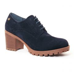 derbys-talon marine: même style de chaussures en ligne pour femmes que les Scarlatine