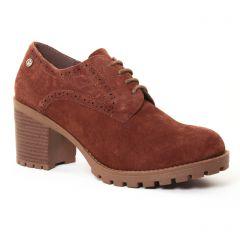 derbys-talon marron: même style de chaussures en ligne pour femmes que les Suave