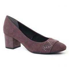 escarpins-trotteur gris mauve: même style de chaussures en ligne pour femmes que les Marco Tozzi