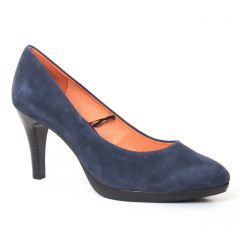 Chaussures femme hiver 2017 - escarpins Caprice velours bleu