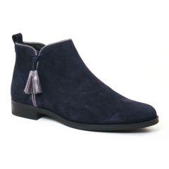 Chaussures femme hiver 2017 - low boots Scarlatine bleu gris argent