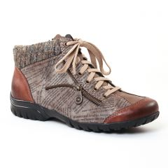 Chaussures femme hiver 2017 - low boots rieker marron gris