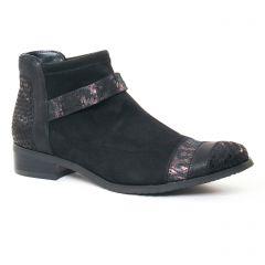 Fugitive Rebus Velours Noir : chaussures dans la même tendance femme (low-boots noir) et disponibles à la vente en ligne