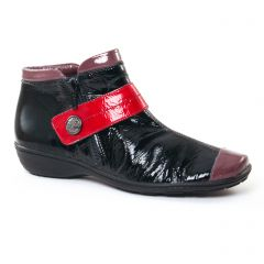 Chaussures femme hiver 2017 - low boots Geo Reino noir rouge