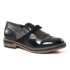 mocassins-confort noir argent: même style de chaussures en ligne pour femmes que les Rieker