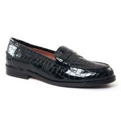 mocassins croco noir: même style de chaussures en ligne pour femmes que les Les Tropéziennes