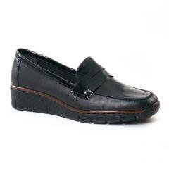 mocassins-trotteurs noir: même style de chaussures en ligne pour femmes que les Rieker