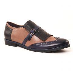 mocassins-slippers beige marine: même style de chaussures en ligne pour femmes que les Mamzelle