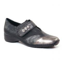 mocassins-trotteurs noir argent: même style de chaussures en ligne pour femmes que les Suave