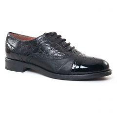 Chaussures femme hiver 2017 - richelieus Maria Jaén croco noir