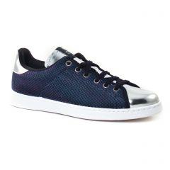 tennis bleu argent: même style de chaussures en ligne pour femmes que les Les Tropéziennes