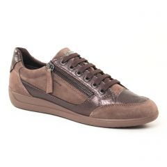 Chaussures femme hiver 2017 - tennis Geox marron bronze