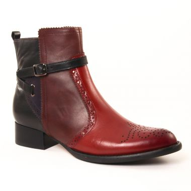 Bottines Et Boots Mamzelle Josya Box Bordeaux, vue principale de la chaussure femme